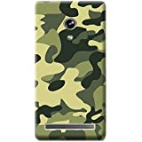 Bloody Branded Back Case For Asus Zenfone 6 | Asus Zenfone 6 Back Cover | Asus Zenfone 6 Back Case - Printed Designer Hard Plastic Case - Camouflage Theme(Yellow & Green)