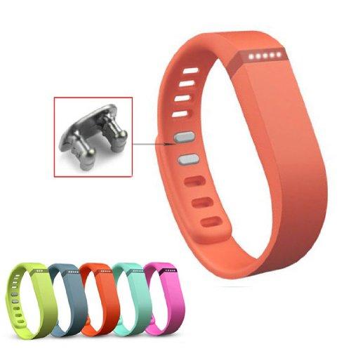 Aktivität- und Schlaf-Armband Wristband für Fitbit Flex mit Clasp ohne Tracker Groß (Orange) (Fitbit Schlaf-tracker Flex)