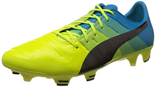 puma-evopower-13-fg-zapatillas-de-futbol-hombre-amarillo-gelb-safety-yellow-black-atomic-blue-01-eu-