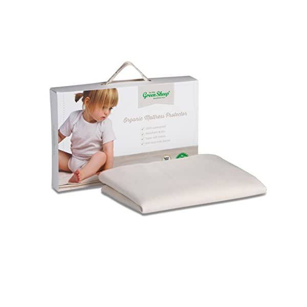 The Little Green Sheep Waterproof Mattress Protector to fit Chicco Next2Me Crib
