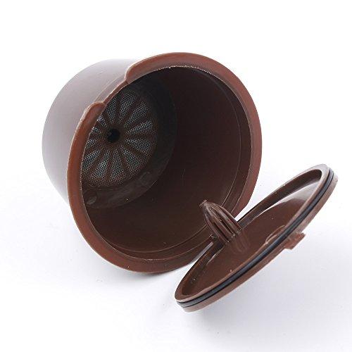 MAXGOODS 5 Stk Nachfüllbare Kaffeekapseln des Nachfüllens mehr 200 Mal wiederverwendbare Kaffee-Hülsen-Schale für Kaffee-Maschine