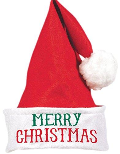 erdbeerloft- Weihnachtsmütze, Nikolausmütze, Merry Christmas, Rot-Weiß (Süße Santas Helfer Kostüme)