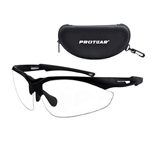 Schutzbrille mit Etui - Kratzfestes Schutzglas Augenschutz - UV 400 Schutz