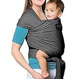 NewPI Fascia Porta Bambino,Elastica porta Bambino, Baby Wrap Carrier, Imbracature Soffici Per Bambini ,100% Cotone Organico.include Istruzioni.
