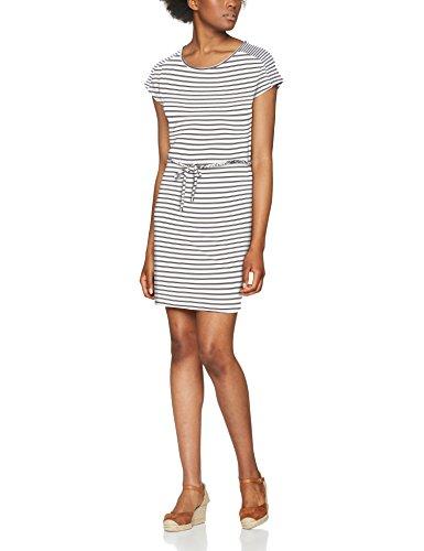 s.Oliver Damen Kleid 5706826854, Elfenbein (Creme Stripes 02G2), 36