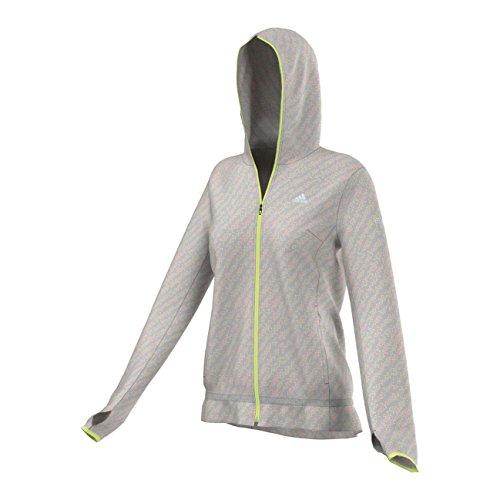 Adidas Run Graphic JK–Sweat pour femme Gris / Lime