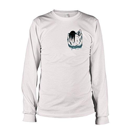 Ringu Kostüm (TEXLAB - Brusttasche Ring - Langarm T-Shirt, Herren, Größe XL,)
