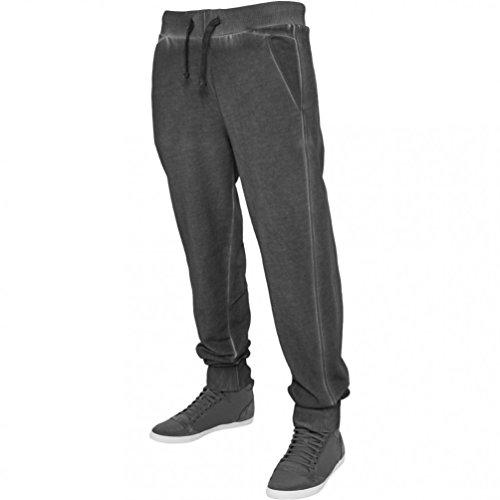 Urban Classics Herren Hose Spray Dye Sweatpants Darkgrey