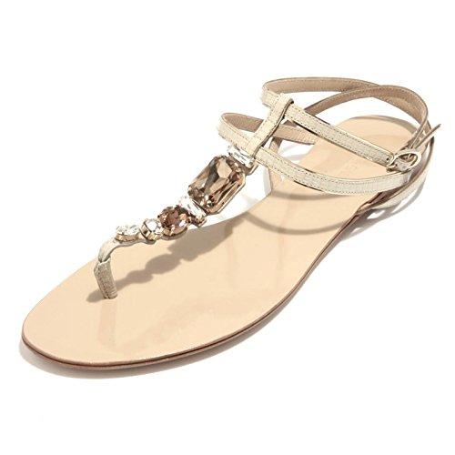 89363 infradito DOLCE&GABBANA D&G PELLE STAMPA IGUANA scarpa ciabatta donna flip NUDO