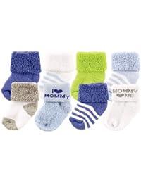 5e92217be8 Luvable Friends 28016B Baby Socken Junge 8er Set uni und gestreift Größe: 0- 6