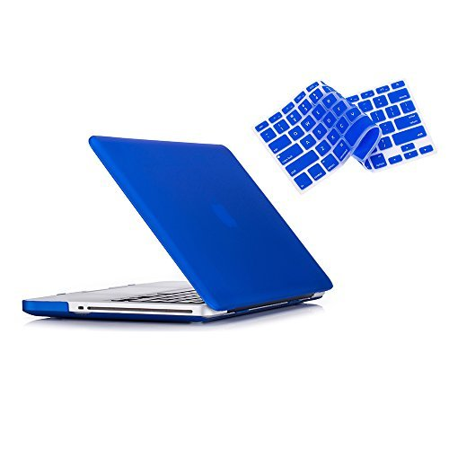 MacBook Pro 13 Hülle 2012 2011 2010 2009 Release A1278, Ruban Hard Case Shell Cover und Keyboard Skin Cover für Apple MacBook Pro 13 Zoll mit CD-ROM - Navy Blue