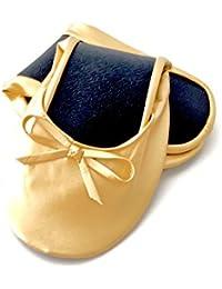 Ballerina2Go - Bailarinas para mujer, color dorado, talla 37/38