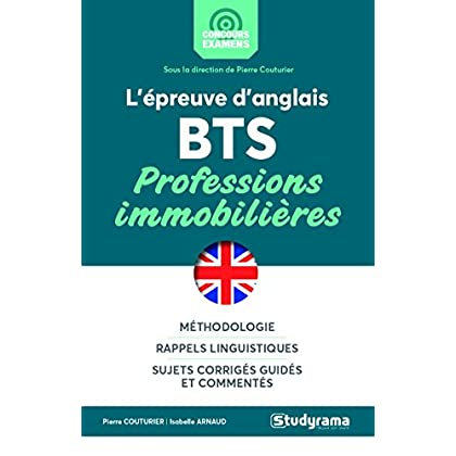 L'épreuve d'anglais au BTS professions immobilières