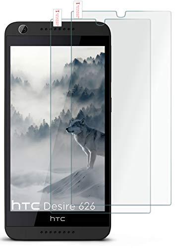 moex 2X 9H Panzerfolie für HTC Desire 626G | Panzerglas Bildschirm Glasfolie [Tempered Glass] Screen Protector Glas Bildschirmschutz-Folie für HTC Desire 626G/626 Schutzfolie
