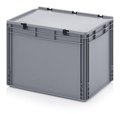 Eurobehälter-Eurobox 60 x 40 x 43,5 cm mit Scharnierdeckel inkl. gratis Zollstock - Euro-box