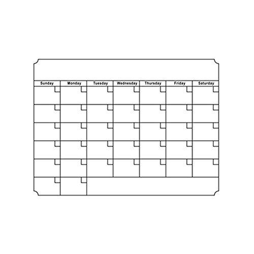 Magnetische Kalenderaufkleber Trocken abwischen Whiteboard Kalender magnetischen wöchentlichen monatlichen Planer Whiteboard Tafel Tafel Aufkleber Wandkalender Aufkleber für Kühlschrank Wandschrank (Monatlichen Planer Kalender)