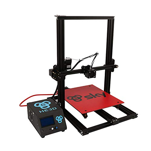 HE3D vormontierter SKY 3D Drucker mit Titantextruder AC Wärme Bett voll Aluminium große Baugröße 300 * 300 * 400mm Doppelköpfe als Geschenk - 9