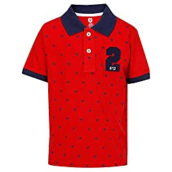 612 League Boys T-Shirt (ILW17I16004H_Red_4-5 Years)