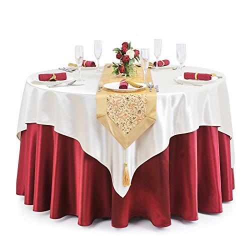 MWJK Hotel Ristorante Tovaglie Stoffa Tondo Ricevimento Di Nozze Incontro Domestico Salotto Tavolino Da Caffè Tovaglia,A,2m