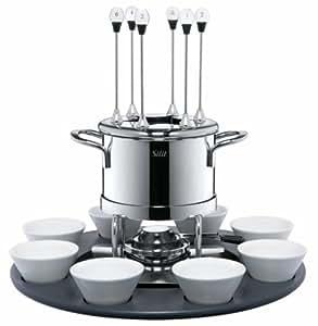 silit 4622411 fondue set circulo edelstahl rostfrei 18 10 1 9 ltr 16 cm k che. Black Bedroom Furniture Sets. Home Design Ideas