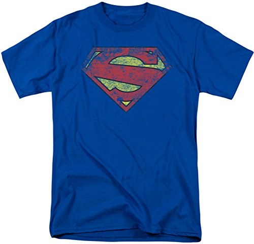 Superman-52-Maglietta da uomo Blu