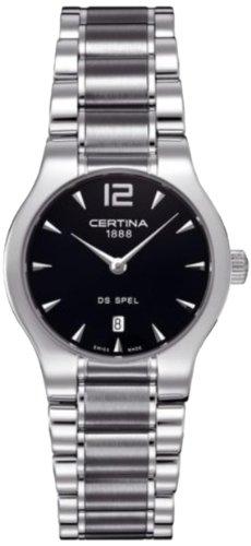 Certina DS Lady C012.209.11.057.00 - Reloj analógico de cuarzo para mujer, correa de acero inoxidable color plateado