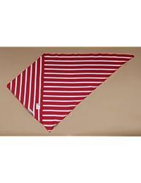 Dreiecktuch ^rot-weiss gestreift verschiedene Größen von Modas bretonisches Dreieckstuch Halstuch Bandana dreieckiges Tuch