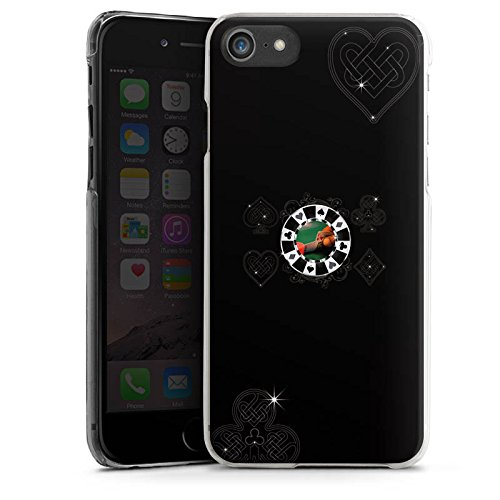 Apple iPhone X Silikon Hülle Case Schutzhülle Poker Chip Herz Hard Case transparent