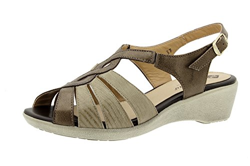 Chaussure femme confort en cuir Piesanto 6556 sandale casual chaussure confortables amples Taupe