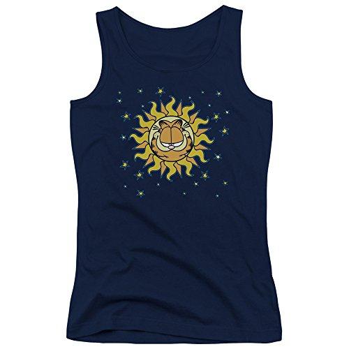 Garfield Celestial Newspaper Comic Juniors Tank Top Shirt