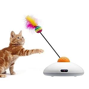 WYXIN Pet Time Intelligent Promenade le Chat Automatique Plume Drôle Chat Bâton Télécommande De Charge Drôle Chat Jouets