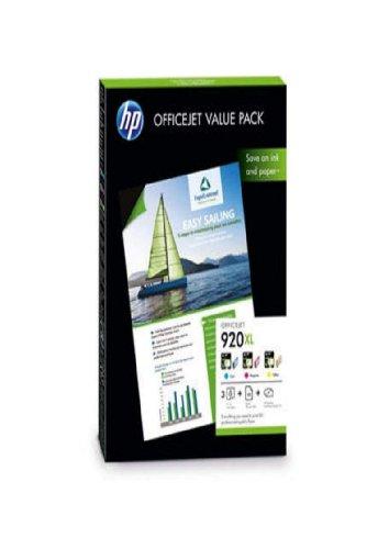 HP 920XL VALUE PACK CH081AE für HP Officejet 6500A Druckerpatronen + incl. 10 Blatt Fotopapier von Tinten und Toner Fuchs -