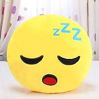 Diadia 32cm Soft Emoji Smiley Plush Pillow Sofa Waist Throw Cushion Cover Home Decor Cushion Cover Cas on The Sofa, Coffee Shop, Library, Book Store, Party, Club