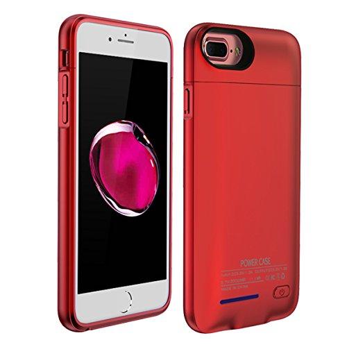 Mengdeno Akku Hülle für iPhone 6 Plus, tragbare Battery Case für iPhone 6 Plus Akku Case Ladehülle (Red)