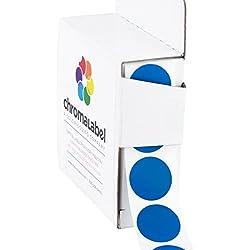 0,75color-code etiquetas de lunares | adhesivo permanente, 3/4en.–1000/caja dispensadora