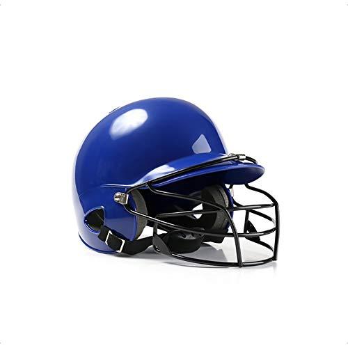 OOFAYWFD Baseball-Helm, Jugend und Kinder Erwachsene Baseball und Softball Helm Multicolor Gürtel Maske Outdoor-Sport ABS-Material,Blue (Softball-helm Kinder)