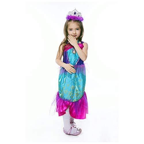 Ariel Baby Mädchen Kostüm - HJ&WL Meerjungfrau Kostüm Mädchen Kleid Kinder Ariel Kostüme Prinzessin Kleider Abendkleid Halloween Cosplay Verrücktes Kleid Geburtstag Party Ankleiden