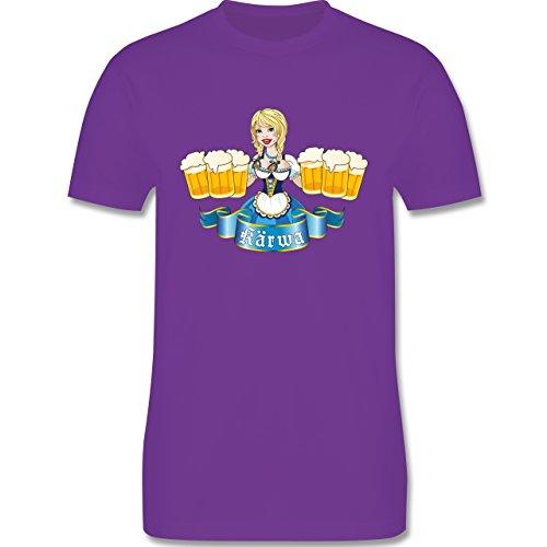 Oktoberfest Herren - Kärwa Mädel - Herren Premium T-Shirt Lila