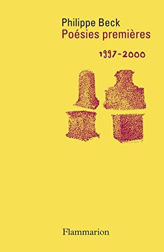 Poésies premières : 1997-2000