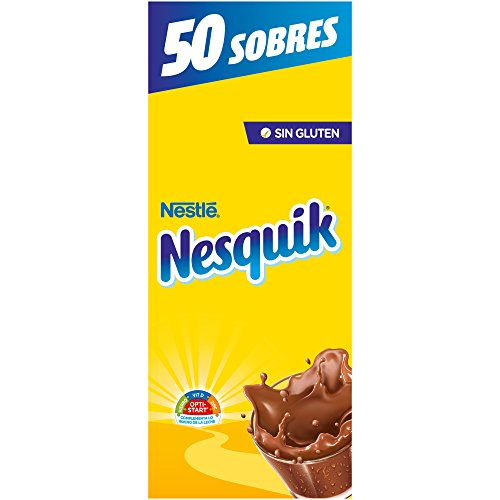 Foto de Nestlé nesquik cacao soluble instantáneo - Estuche de 50 sobres(50x14g)