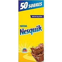Nestlé Nesquik cacao soluble instantáneo - Estuche de 50 sobres de cacao soluble ...