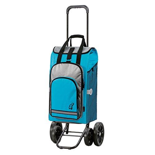 Andersen Shopper Quattro und 60 Liter Einkaufstasche Hydro türkis mit Kühlfach