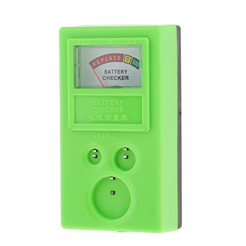 MagiDeal Handliches Testgerät für Knopfzellen Batterien und Akkus , Uhr Reparatur Tool Kit - Grün
