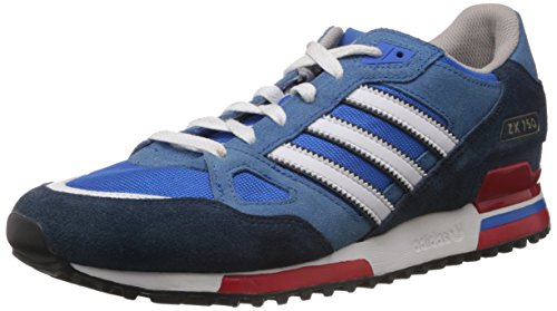 adidas Herren ZX750 Low-Top Blau (Bluebird/Running White Ftw/St Dark Slate F13) 46 EU