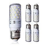 Lampaous E27 LED Mais Birne Beleuchtung 12W LEDs Leuchtmittel Maiskolben Kaltweiß 6000K 850lm Ersatz 100W Glühlampe flimmerfrei für Garage Korridor, Hängendes Licht, Hofleuchte, 4er Pack
