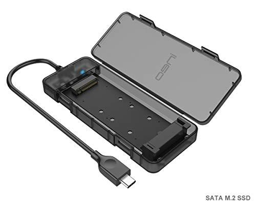 M.2 NGFF Adapter da SSD M2 a USB 3.1 Type C Gen2, Case Esterno Adattatore per Disco Rigido NGFF SATA SSD, 10Gbps Box Custodia Alloggiamento, B Key 2230/2242/2260/2280 Hard Disk Drive, USB Tipo C cavo