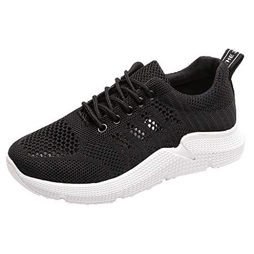 Dragon868 Damen Atmungsaktiver Trainer Sneaker Lässige Sportschuhe Leichte Walking Jogging Wanderschuhe -