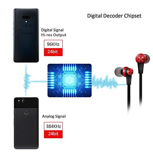TriLink USB Typ C Ohrhörer (Hi-Res Audio & DAC Chipsatz) In Ear Kopfhörer mit Mikrofon für Huawei P20/Pro/Lite/Mate 10/Pro, OnePlus 6/5/5T, Xiaomi mi 8/8 se/mix 2/mix2s, Google Pixel 2/2XL, HTC U12/11 - 3
