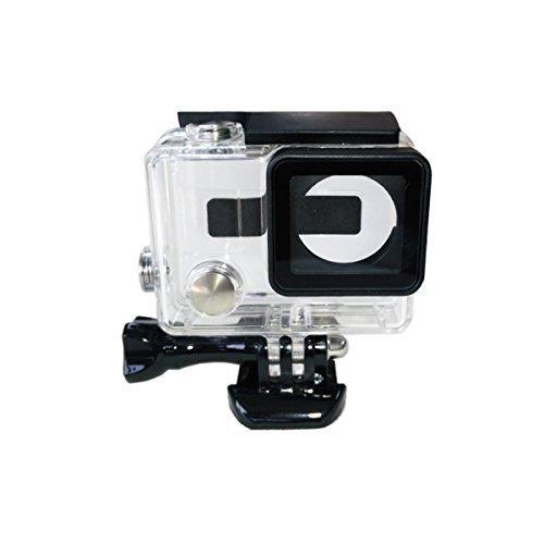 TELESIN - Custodia protettiva di tipo Skeleton con apertura sui lati, trasparente, dotata di obiettivo, compatibile con fotocamere GoPro Hero4 e Hero3+