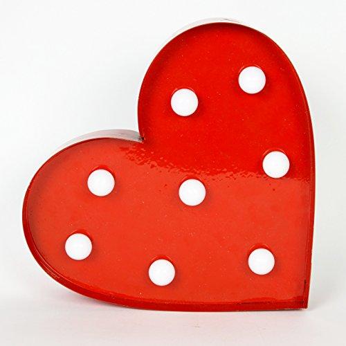 Iluminada corazón rojo carnaval estilo LED